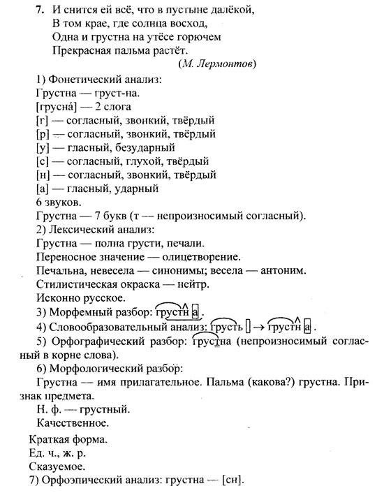 Домашние задания по русскому языку 6 класс
